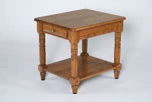Amish living room oak wood colonial end table