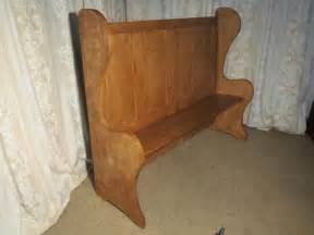 high  pine settle fireside pub bench antiques