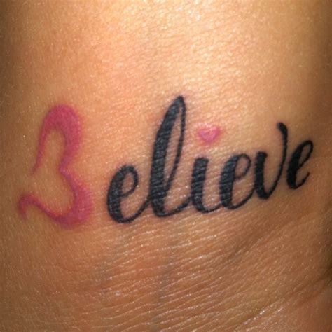 believe tattoos on wrist believe my style
