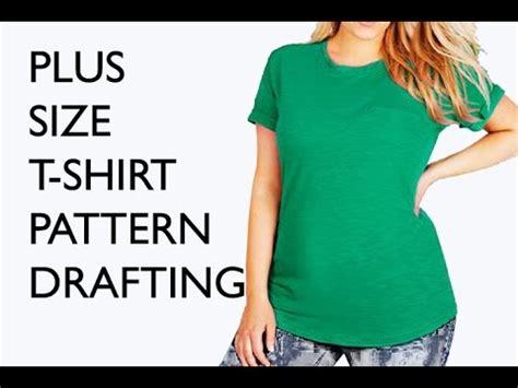 pattern drafting plus size plus size t pattern pattern drafting tutorial youtube