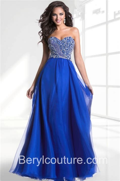 royal blue prom dresses a line strapless sweetheart neckline royal blue chiffon