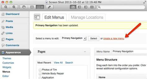 wordpress tutorial navigation menu wordpress tutorial how to add menu items gecko designs