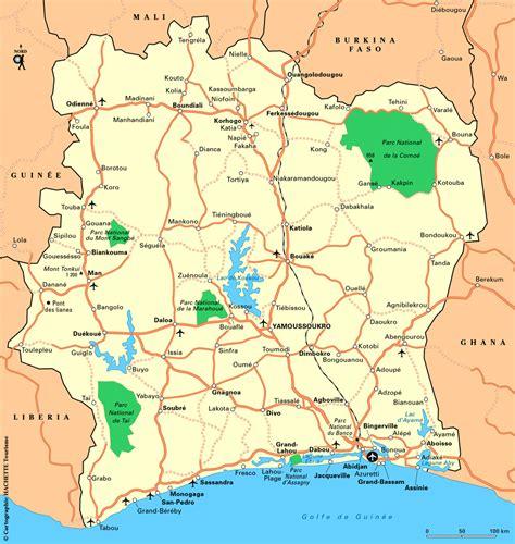 cote divoire free cote d ivoire ivory coast maps