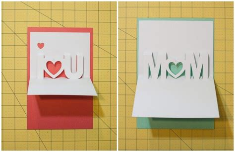 fiy mothers day pop up card template i you pop up cards with free silhouette cut