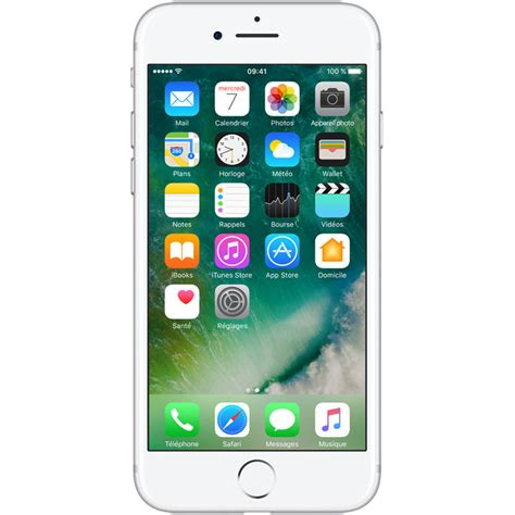 Iphone 7 Ecran by Apple Iphone 7 128 Go Argent Mobile Smartphone Apple Sur Ldlc