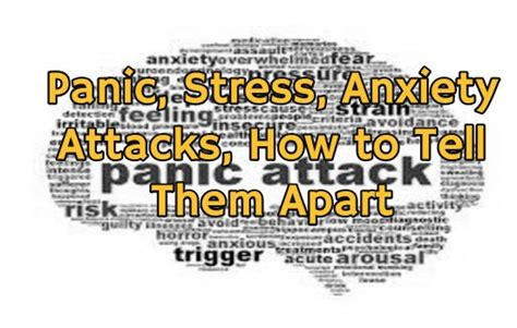 Detox Panic Attacks by Panic Stress Anxiety Attacks How To Tell Them Apart