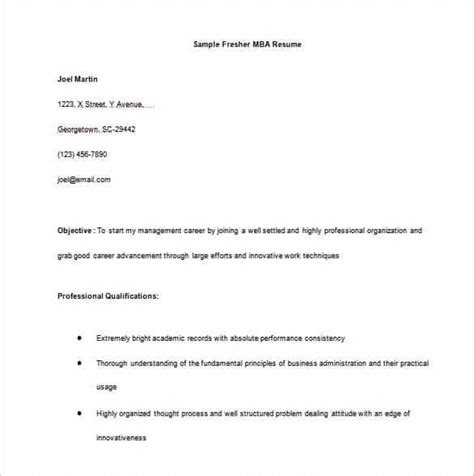 Resume Format For Mba Freshers 2015 by 14 Resume Templates For Freshers Pdf Doc Free