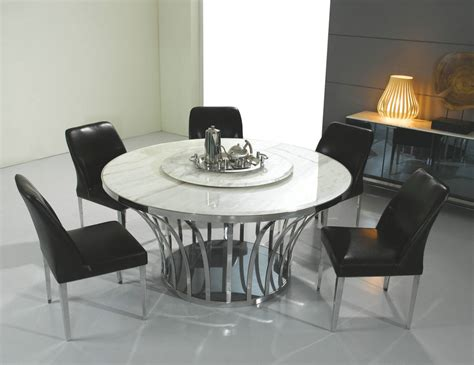 Italian style marble dining table round marble top dining tables