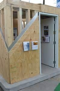 wood frame and steel sheathing tornado safe room