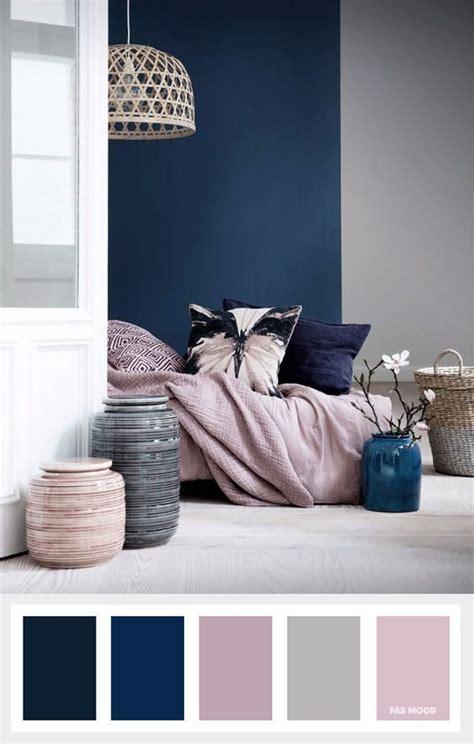 navy blue mauve  grey color palette room color