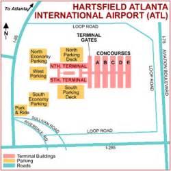 Car Rental Atlanta Airport Terminal Map Of Atlanta Airport Terminal