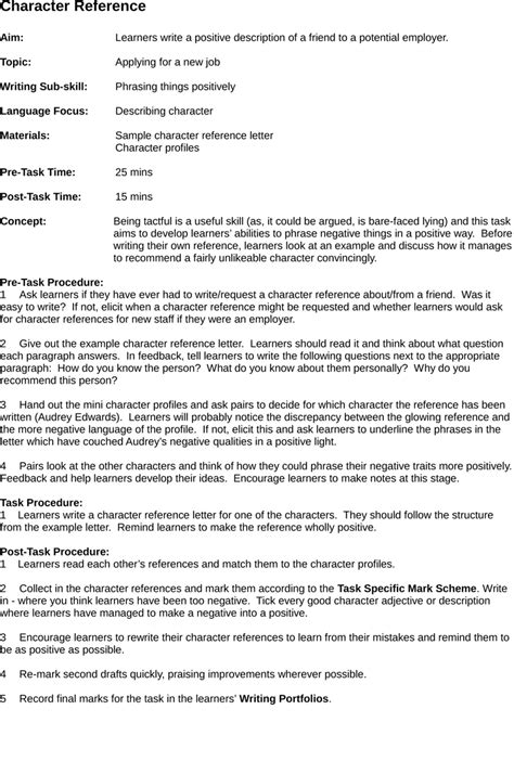 character reference letter sles template resume builder