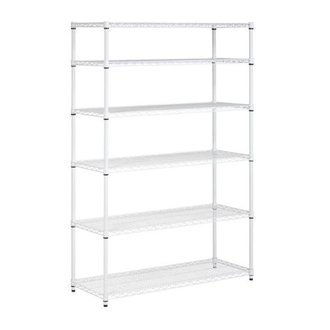 honey can do 6 shelf 72 in h x 48 in w x 18 in d steel