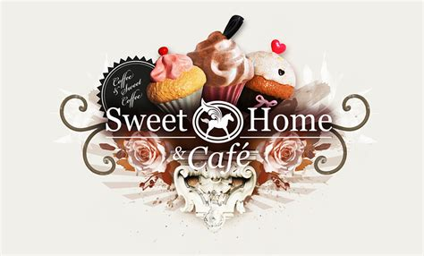 sweet home caf 233 identity ewelina sosniak graphic