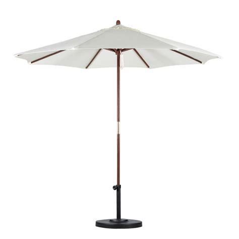 Wood Patio Umbrella California Umbrella 9 Ft Wood Pulley Open Patio Umbrella In Polyester Sow908 P10 The