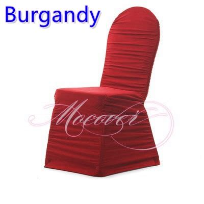 burgandy colour ruffled universal chair covers ruched