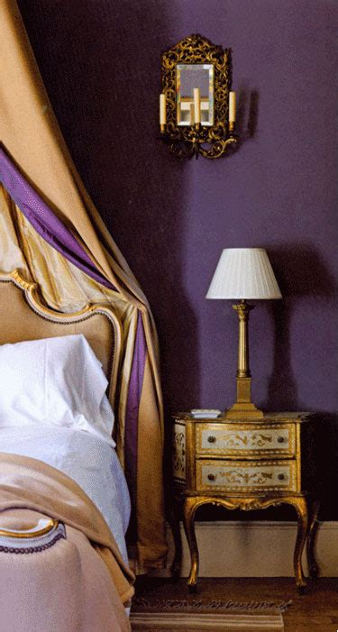 purple and gold bedroom frecnh bedroom in purple and gold interiors by color