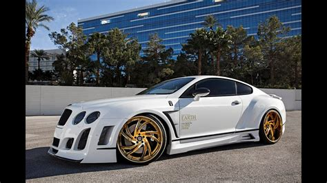 white gold bentley bentley gt satin white wrap on 24k gold lexani wheels
