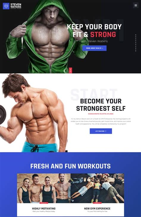 30 Highly Customizable Fitness And Gym Wordpress Themes Fitness Trainer Website Templates