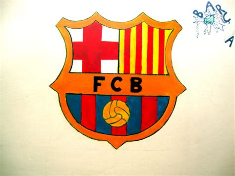 barcelona fc wallpaper for bedroom barcelona s logo on the wall in my bedroom by chris