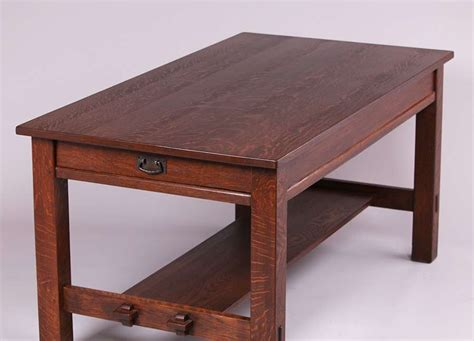 l jg stickley 2 drawer library table california