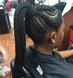 big cornrow hairstyles for black with bangs 50 best black braided hairstyles for african women 2017