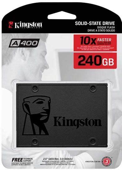 disk interno ssd kingston 240gb ssd sa400 sata3 2 5 quot quot sa400s37 240g
