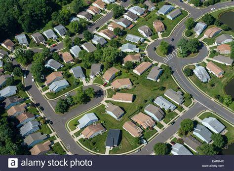 Aerial View Of Residential Houses In Suburban Neighborhood Home Www Usanj