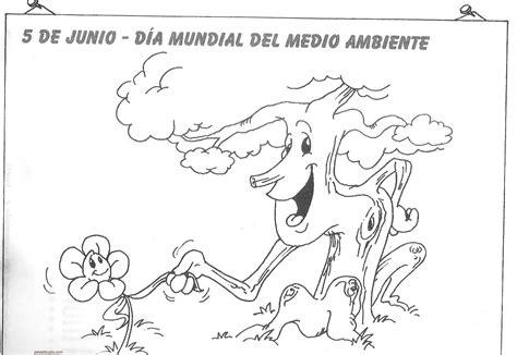 imagenes faciles para dibujar del medio ambiente dibujos del d 237 a mundial del medio ambiente para colorear