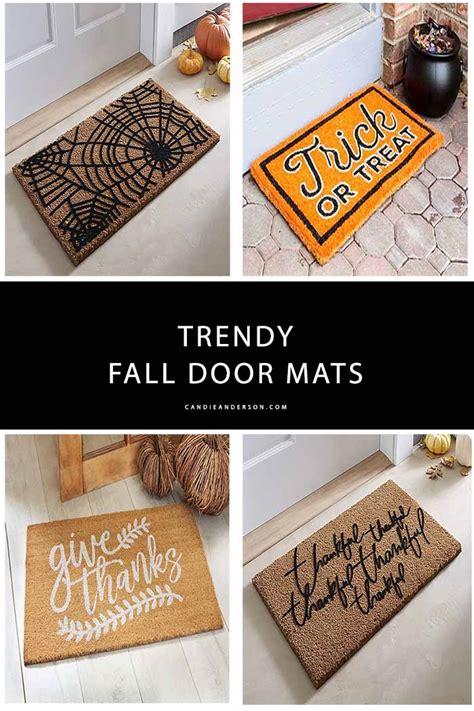 trendy fall door mats   front porch candie