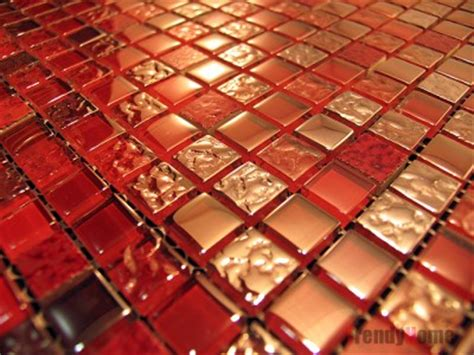 red glass tile kitchen backsplash sle glass mosaic tile red wall kitchen backsplash