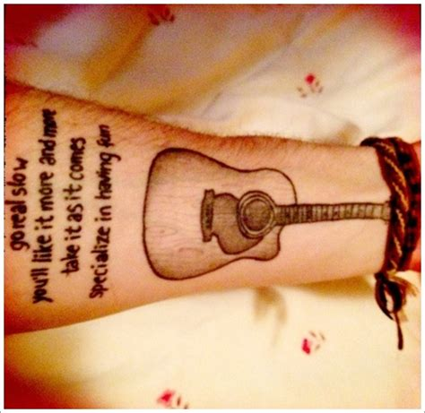 design inspiration meaning guitar tattoo designs the acoustic guitar tattoo meaning