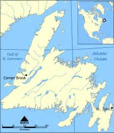 newfoundland canada map canada map of newfoundland nfl and labrador