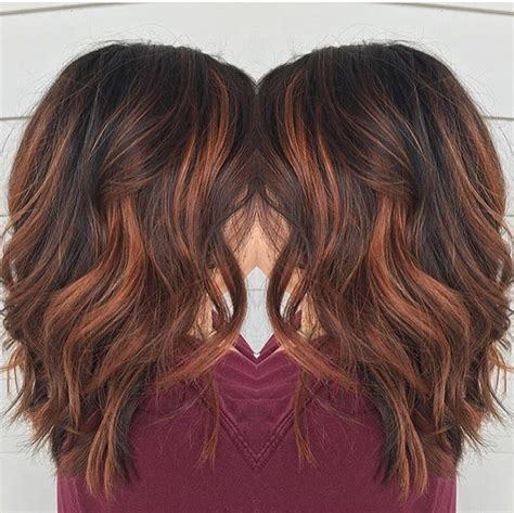 medium brown hair balayage pictures to pin on pinterest red brown balayage by rebecca at avante salon and spa