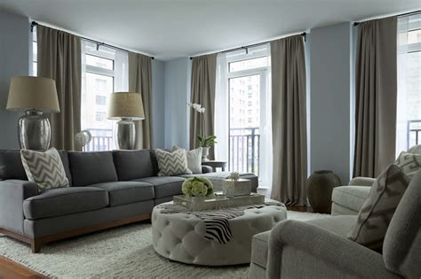 gray sofa contemporary living room the abode