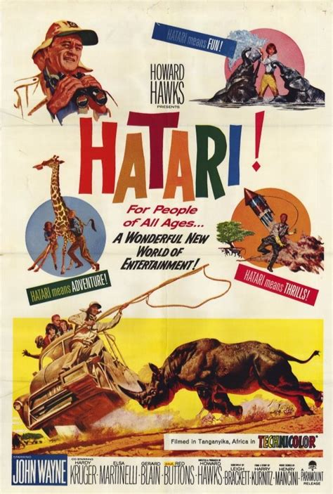hatari cast hatari john wayne movie poster love that movie pinterest