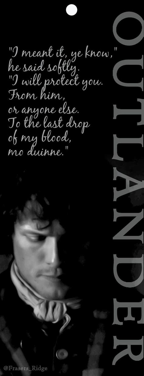 Good morning Outlanders! Have a new Jamie bookmark