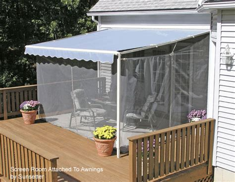 deck awnings with screens screen porch kits install on awnings to make a porch