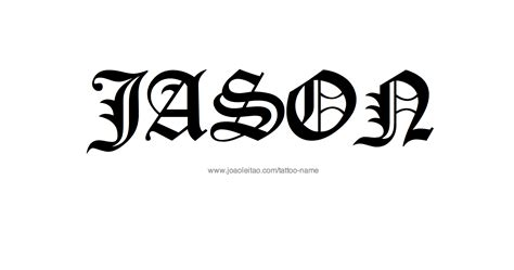 Tattoo Name Jason | jason name tattoo designs