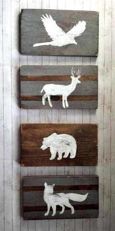 Wooden Nursery Decor Woodland Nursery Decor Reclaimed Wood Set Tribal Decor Rustic Nursery Nursery
