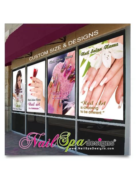 Window Decals For Nail Salon by Nail Salon Window Decals Mesh Window Decals