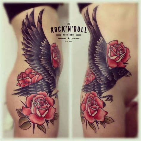 raven with rose tattoo 170 best images about neo traditional tattoos on