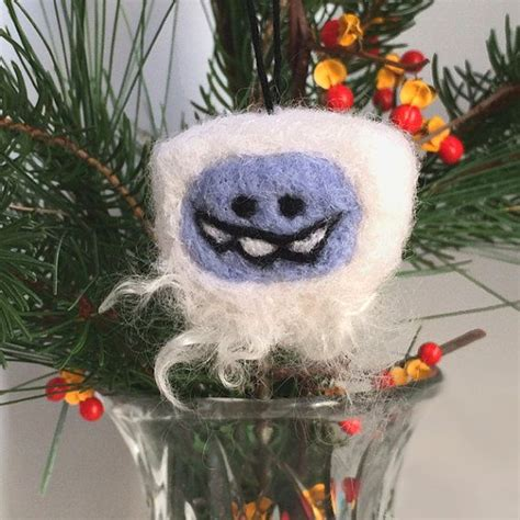 7 Great Pieces Of Snowman Decor by Mitten Ornament Needle Felted Blue Winter