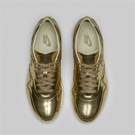 mens gold sneakers mens nike air max 1 liquid metal coming this year