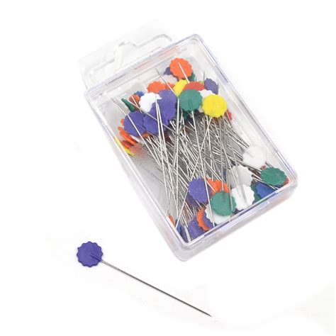 Patchwork Tools And Equipment - 100x patchwork pins flower button pins diy quilting