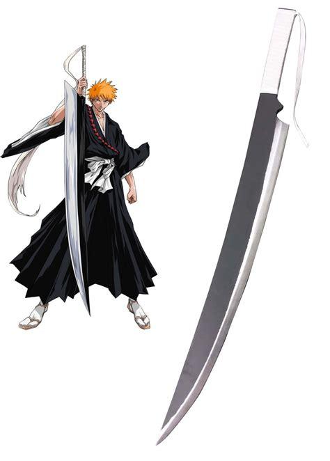 Kaos Ichigo Mask And Swords ichigo kurosaki zanpakutou zangetsu wooden