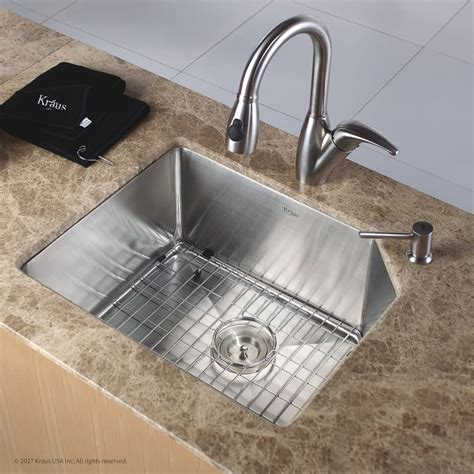 kitchen sink 10 inch depth kraus khu12123 23 inch undermount single bowl kitchen sink