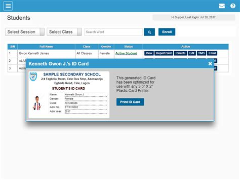 id card design software open source soa school management system