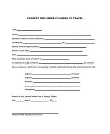 parental consent to travel form template doc 728943 letter of consent for travel of a minor child