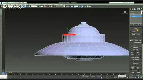 3ds max make a flying saucer